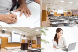 リアル講座と、自宅で学べるオンライン講座の選択が可能